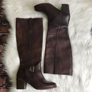 Frye Malorie Knotted Tall Boots Brown Style# 76128
